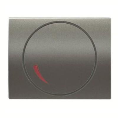 Tapa regulador electrónico Niessen 8460.2 AP acero perla Olas