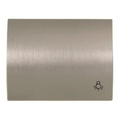 Tecla para pulsador simbolo luz Niessen 8404.2 al acero pulido olas