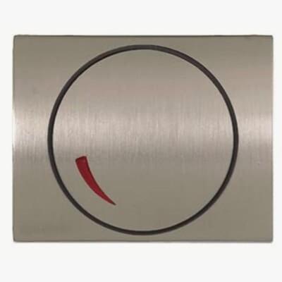 Tapa regulador electrónico Niessen 8460.2 AL acero pulido Olas