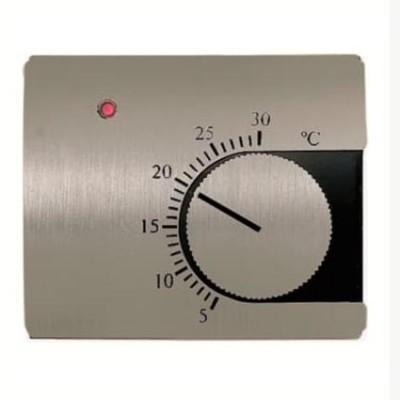 Tapa termostato calefacción Niessen 8440 AL acero pulido Olas