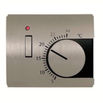 Tapa termostato interruptor Niessen 8440.1 AL acero pulido Olas