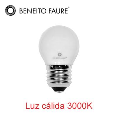 Bombilla esférica LED mate 5W E27 luz cálida 5925631(N)-4C