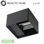 Aplique Beneito & Faure 3986 led LEK NEGRO 6.8w 4000K