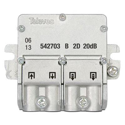 Derivador plantas 4-6 conector easyF 542703 Televes