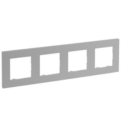 Marco Legrand Niloe Step 864374 de 4 elementos color aluminio