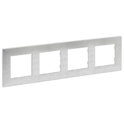 Marco Legrand Niloe Step 864874 aluminio pulido 4 elementos