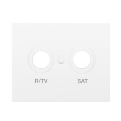 Tapa toma television satelite blanco 18320 serie Bjc Iris