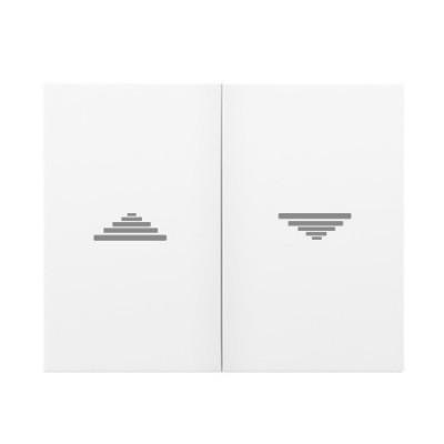Tecla doble pulsador interruptor persianas blanco 18765 Iris Bjc