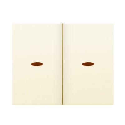 Tecla doble interruptor conmutador visor18709AL beige Iris Bjc