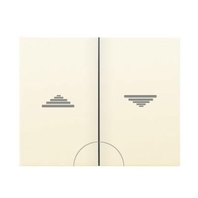 Tecla doble pulsador persianas beige 18711A serie Iris Bjc