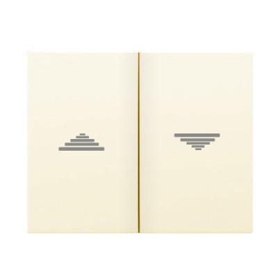 Tecla doble pulsador interruptor persianas beige 18765A Iris Bjc