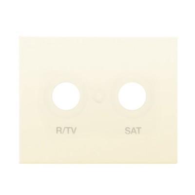 Tapa toma television satelite beige 18320A serie Bjc Iris