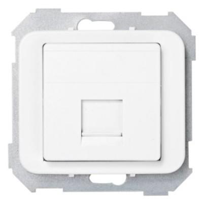 Tapa adaptador 1 conector rj amp blanco 75585-60 serie 75 simon