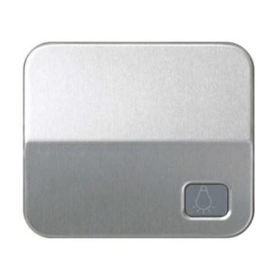 Tecla pulsador simbolo luz aluminio simon 75