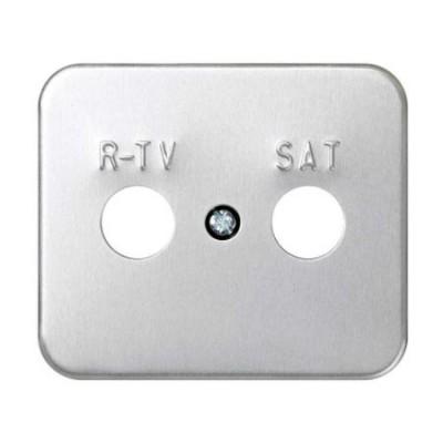 Tapa toma r-tv sat aluminio 75097-33 serie 75 simon
