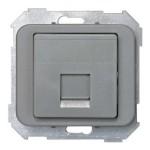 Tapa adaptador 1 conector rj amp gris 75585-65 serie 75 simon