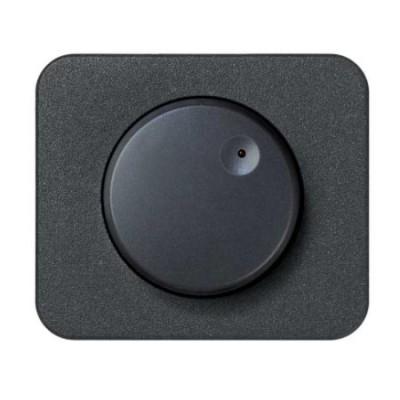 Tapa boton regulador electronico luminoso grafito serie 75 simon