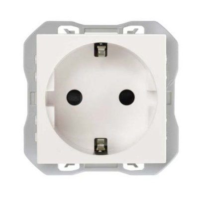 Base enchufe schuko 16A blanco simon 270 20000432-090