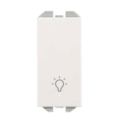 Pulsador estrecho blanco símbolo luz piloto 20001161-090 Simon