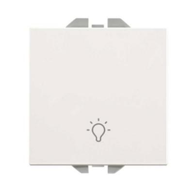 Pulsador ancho blanco símbolo luz Simon 270 20000151-090