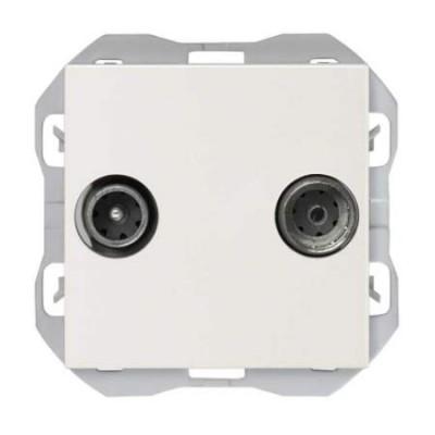 Toma de antena blanca intermedia R/TV+SAT 20000487-090 Simon