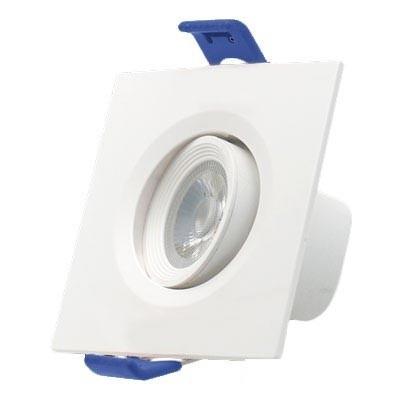 Mini downlight orientable cuadrado 7W blanco 2700K