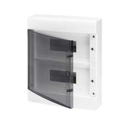 Cuadro eléctrico GEWISS gw40047 superficie puerta transparente