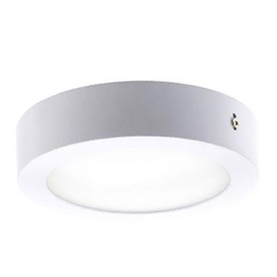 Downlight de superficie LED luz cálida 18W circular blanco