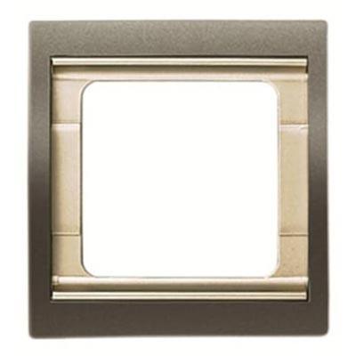 Marco 1 elemento acero perla 8471ap serie Olas Niessen
