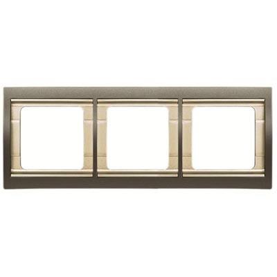 Marco 3 elementos horizontal acero perla 8473.1ap Olas Niessen