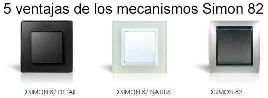 5 ventajas de los mecanismos simon 82 - Llaves de luz simon ...