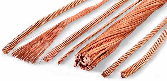 Diferentes tipos de cable de cobre