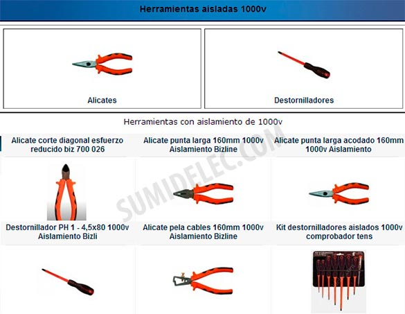 Herramientas aisladas 1000v para trabajos de electricidad - Herramientas de carpinteria nombres ...