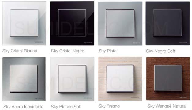 Tecla interruptor conmutador 8501cb cristal blanco niessen - Llaves de luz precios ...