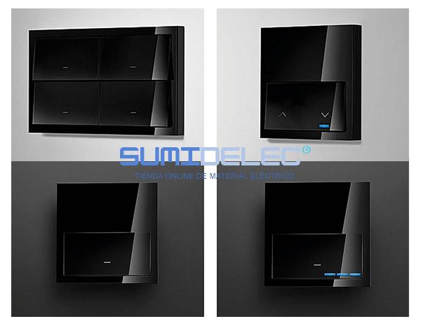 Kit front 1 elemento 1 base enchufe negro 10020105 138 - Enchufes simon precios ...