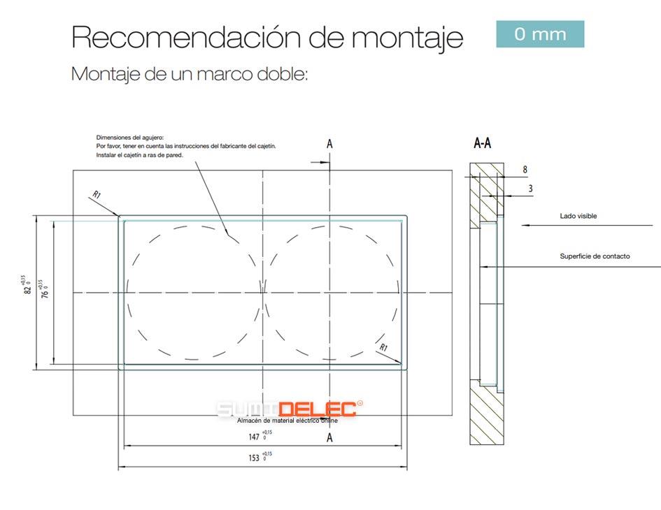 Montaje de un marco de 2 elementos de LS ZERO