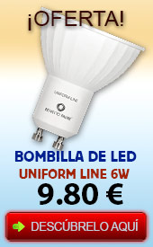 Oferta bombilla led gu10 6w uniform line beneito faure